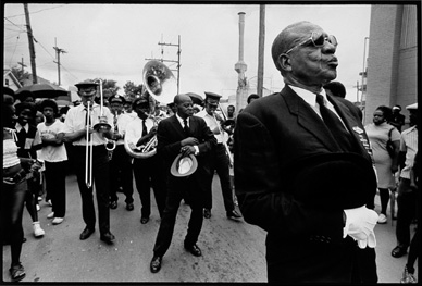 Michael P. Smith photograph 'Jazz Funeral for Frank Dorsey, Mayor of Gert Town, 1973'