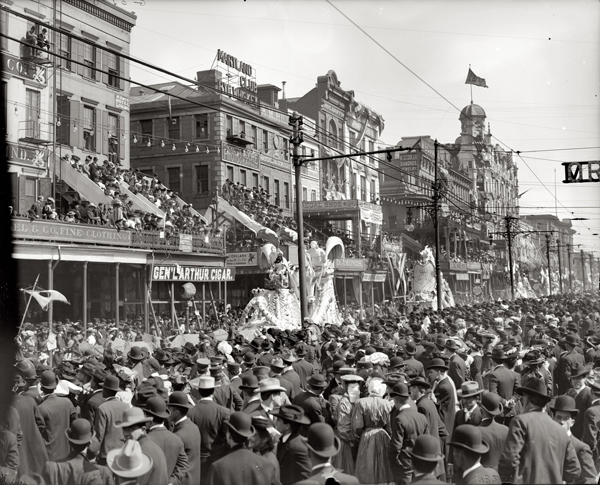 Mardi Gras, New Orleans, the Red Pageant, circa 1900-1910