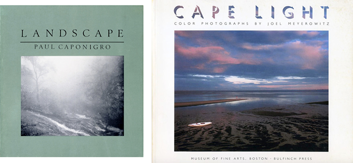 Paul Caponigro's Landscape, Cover, and Joel Meyerowitz's Cape Light, Cover